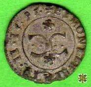 Quattrino con motto SIC e due C accostate 1595 (Mantova)