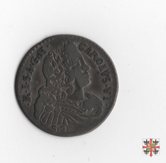 Lira da venti soldi 1735 (Mantova)