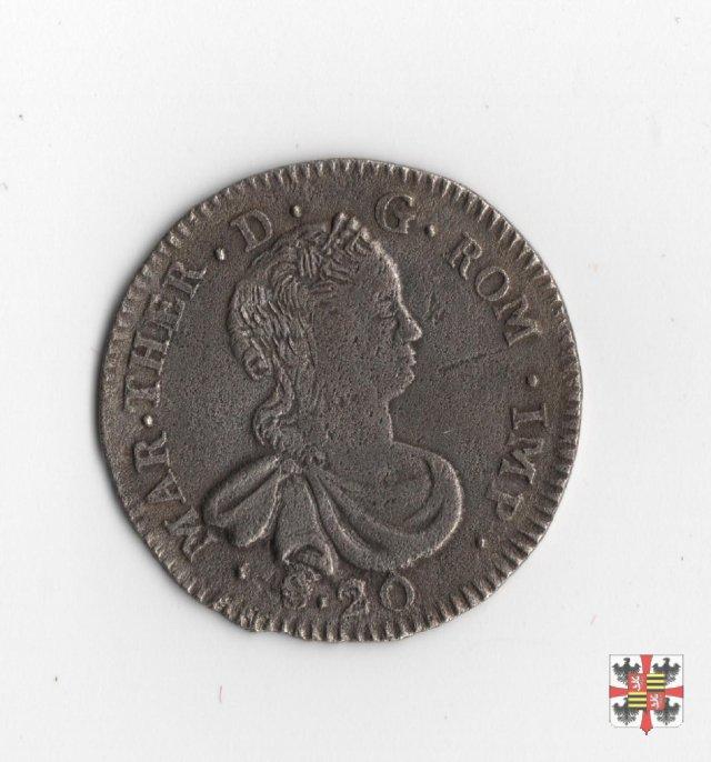 Lira da venti soldi 1754 (Mantova)